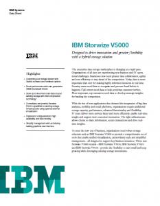 IBM Storwize V5000 Data Sheet