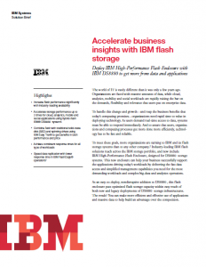 IBM flash storage Solution Brief