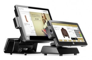 HP RP7 Model 7800 & HP RP2 Retail Systems, Hero, Right facing